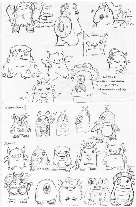 Mico Monster Sketches round 1 (2)